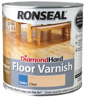 Ronseal Diamond Hard Floor Varnish Clear Satin 2 5l Wickes Co Uk