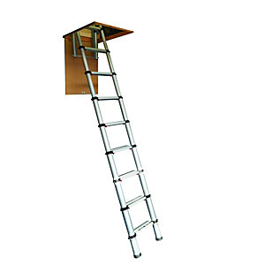 Compare retail prices of Youngman Telscopic Aluminium Loft Ladder - Max Height 2.88m to get the best deal online