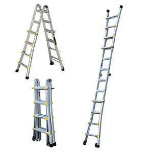 Compare retail prices of Youngman Professional Aluminium Multi Function Ladder - Max Height 4.66m to get the best deal online