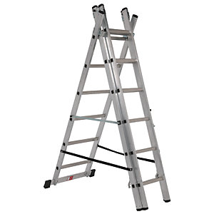 Compare retail prices of Youngman Professional 3 Section Aluminium Combination Ladder - Max Height 2.29m to get the best deal online