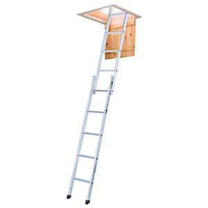 Image of Youngman 2.6m Standard 2 Section Aluminium Loft Ladder