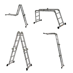 Compare retail prices of Youngman Professional Aluminium Multi Function Ladder - Max Height 4.03m to get the best deal online