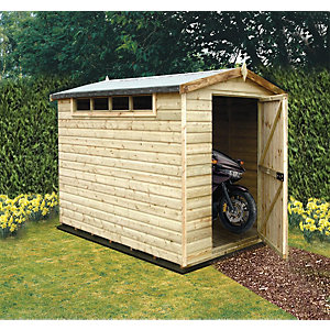 Shire 8 x 10 ft Large Security Timber Apex Shed with High Level Windows