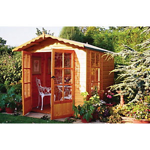 Shire 7 x 7 ft Buckingham Traditional Apex Summerhouse