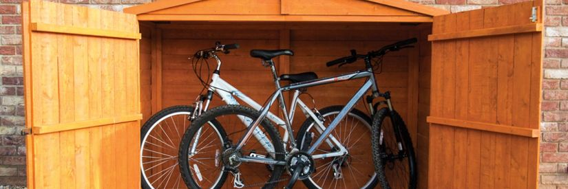 Shire Overlap Timber Bike Store Shed - 7 X 3 Ft