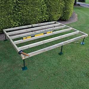 Shire Adjustable Base for Summerhouses & Sheds - 7 ft x 5 ft