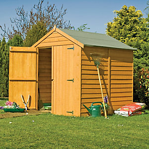 Shire Double Door Windowless Overlap Apex Shed - 6 x 6 ft