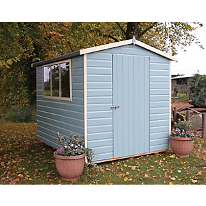 Shire 6 x 8 ft Easy Assembly Timber Shiplap Apex Shed