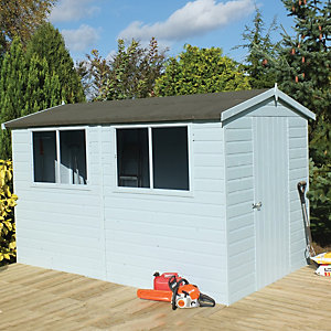 Shire 6 x 10 ft Easy Assembly Timber Shiplap Apex Shed