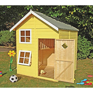 Shire 5 x 5 ft Croft & Bunk Split Level Wooden Playhouse