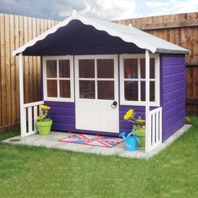 Shire 6 X 5 Ft Pixie Timber Playhouse With Veranda