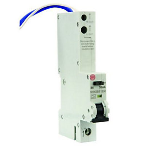 Image of Wylex 30mA Type B RCBO Miniture Circuit Breaker - 6A