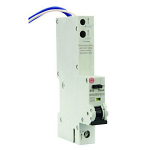 Image of Wylex 30mA Type B RCBO Miniture Circuit Breaker - 10A
