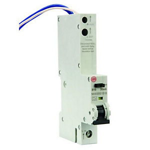Image of Wylex 30mA Type B RCBO Miniture Circuit Breaker - 16A