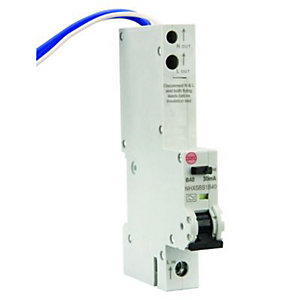 Image of Wylex 30mA Type B RCBO Miniture Circuit Breaker - 40A