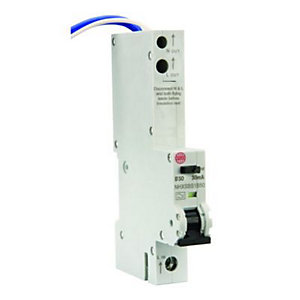 Image of Wylex 30mA Type B RCBO Miniture Circuit Breaker - 50A
