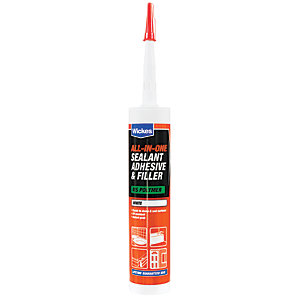 Image of Wickes All in 1 Adhesive & Filler Sealant - White 290ml