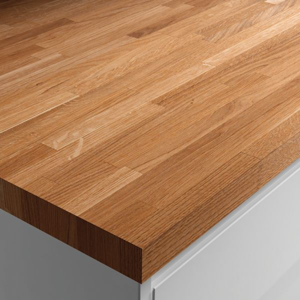 Solid Wood Worktop - Solid Oak 600mm x 26mm x 3m