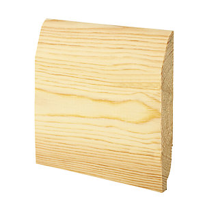 Wickes Dual Purpose Chamfered/Ovolo Pine Skirting - 20.5mm x 145mm x 3.6m Pack of 2