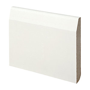 Wickes Dual Purpose Chamfered/Bullnose Primed MDF Skirting - 14.5mm x 119mm x 2.4m
