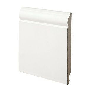 Wickes Dual Purpose Torus/Ogee Primed MDF Skirting - 18mm x 169mm x 3.6m Pack of 2