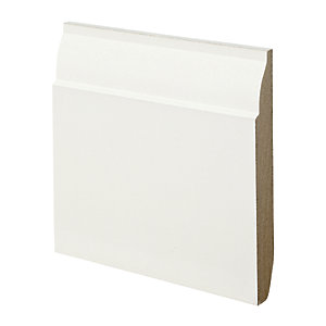 Wickes Dual Purpose Chamfered/Ovolo Primed MDF Skirting - 18mm x 144mm x 3.6m Pack of 2