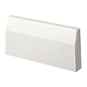 Wickes Chamfered Primed MDF Architrave - 18mm x 69mm x 2.1m