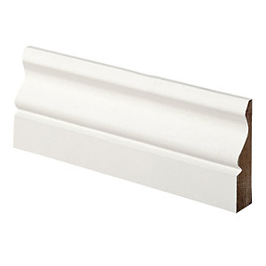 Wickes Ogee Primed MDF Architrave - 14.5mm x 57mm x 2.1m Pack of 5