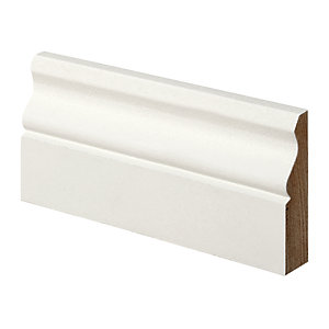 Wickes Ogee Primed MDF Architrave - 18mm x 69mm x 2.1m