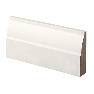 Wickes Ovolo Primed MDF Architrave - 18mm x 69mm x 2.1m Pack of 5
