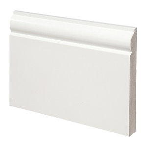 Wickes Torus Fully Finished MDF Skirting - 18mm x 144mm x 3.6m Pack of 2