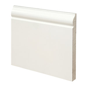 Wickes Torus Fully Finished MDF Skirting - 18mm x 169mm x 3.6m Pack of 2