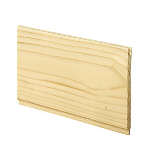 Wickes Softwood Timber Traditional Cladding 7.5 x 96 x 900mm