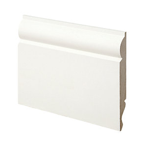 Wickes Dual Purpose Torus/Ogee Primed MDF Skirting - 14.5mm x 119mm x 2.4m Pack of 4