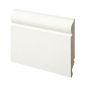 Wickes Dual Purpose Torus/Ogee Primed MDF Skirting - 14.5mm x 119mm x 3.6m Pack of 2