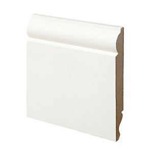 Wickes Dual Purpose Torus/Ogee Primed MDF Skirting - 18mm x 144mm x 2.4m Pack of 4