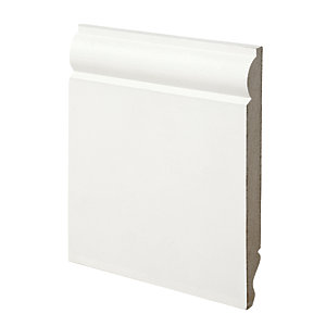 Wickes Dual Purpose Torus/Ogee Primed MDF Skirting - 18mm x 169mm x 2.4m Pack of 2