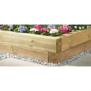 Wickes Garden Sleepers - Light Green 100 x 150mm x 1 2m