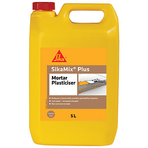 Image of Sika Mix Plus Mortar Plasticiser Admixture - 5L