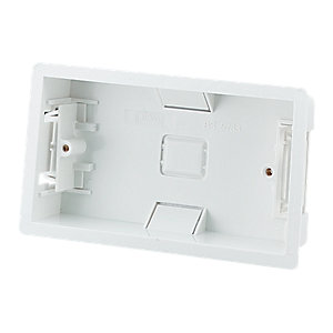 Wickes 2 Gang Dry Lining Box - White Pack of 10