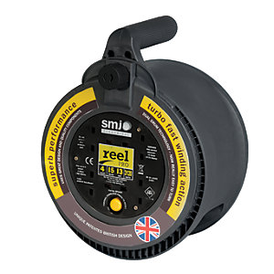Smj Pro 4 Socket High Visibility Cable Reel 15m 13a