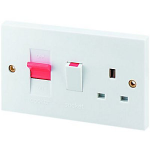 Image of Wickes 45A Cooker Control White