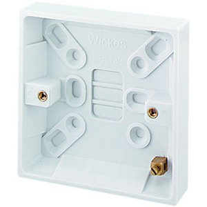 Image of Wickes 1 Gang Pattress Box - White 16mm