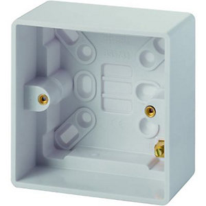 Wickes 1 Gang Pattress Box - White 47mm