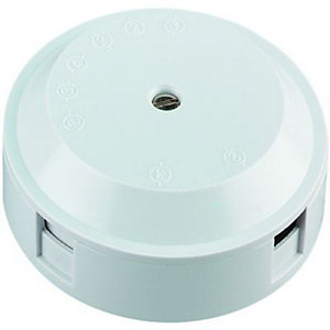 Wickes 4 Terminal Junction Box - White 20A