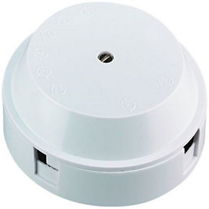 Wickes 3 Terminal Junction Box - White 30A