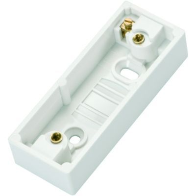 wickes 1 gang architrave pattress box - white | wickes.co.uk