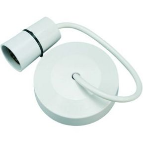 Wickes Ceiling Pendant Rose With 9in Cable White
