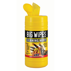 Image of Big Wipes Multi-purpose Cleaning Wipes Tub of 80