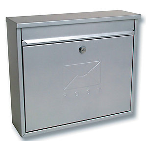 Image of Sterling MB02S Elegance Post Box - Silver
